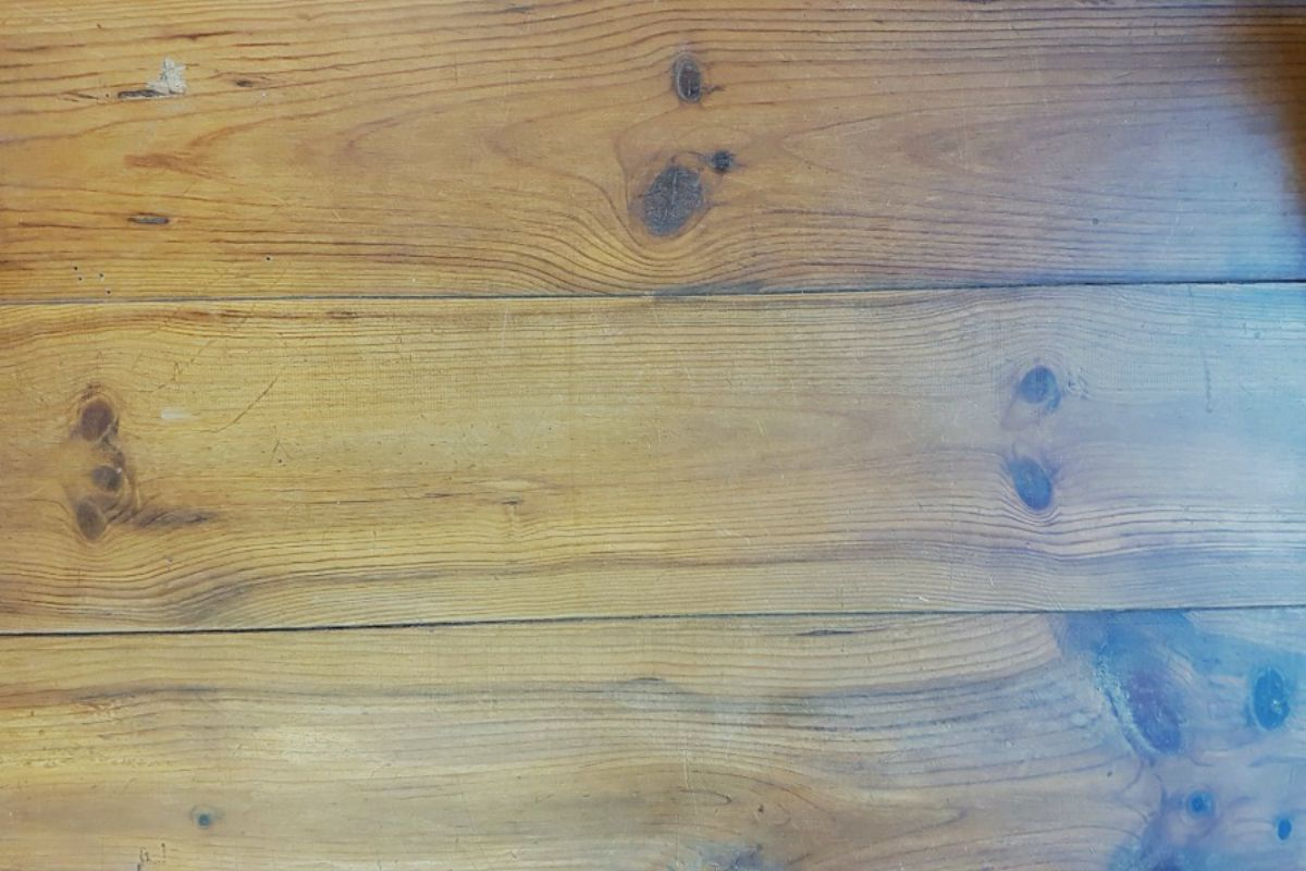Oud Amerikaans grenen vloer